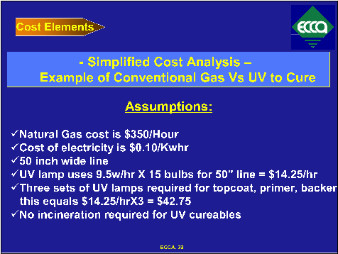Simplified Cost Analysis